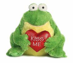 """11"""" Green Frog Kiss Me Aurora Plush Flopsie Stuffed Animal Valentine's Day 07823 #Aurora"""