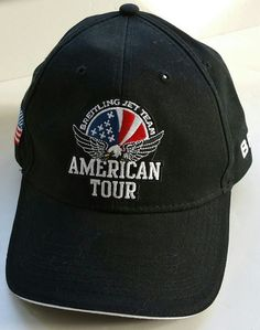 Breitling Jet Team American Tour Black Cap Hat USA Flag bde040f8208f