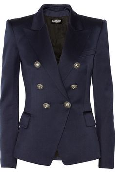 """Everything comes together on this jacket to create one strong and sexy statement.  Unless you have ~$2k to spend on the piece (bless your heart), this blazer is traditional enough that you could find """"the look for less"""" and possibly make adjustments to your budget find at the tailor. If you got it like that...splurge. You can wear this beauty with anything!"""