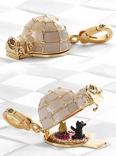 Juicy Couture Igloo & Fireside Yorkie Charm