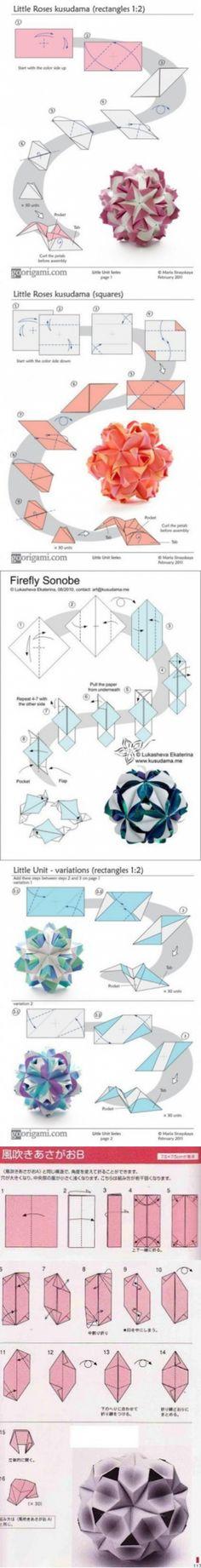 Шары счастья оригами