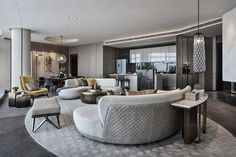 Xclusive Interiors, Best Interior Designers in Pune with rich years of experience designing residential & commercial spaces. Recognized & Awarded Top Commercial Architect and Interior Designers in Pune. Best Interior, Modern Interior Design, Luxury Interior, Wuhan, Living Room Designs, Living Spaces, Le Palace, Round Sofa, Hotel Room Design