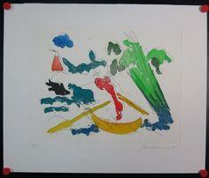 Jan Sierhuis: Kleurenets, Boot bij de waterkant
