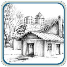 line art houses patterns   ... Carving & Pyrography Patterns by L. S Irish- Classic Carving Patterns
