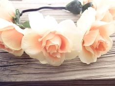Peach delight Rose Flower crown!