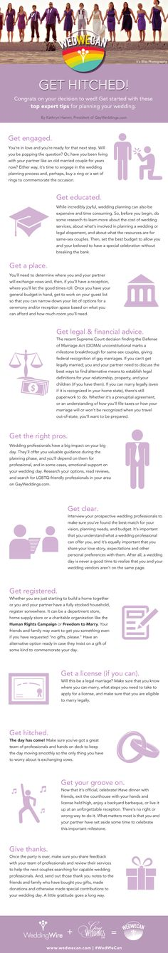 Top expert tips for planning your same-sex wedding! #wedwecan