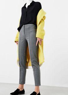 Slim-fit cotton-blend trousers | MANGO