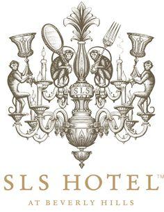 """SLS Hotel"" logo identity at Beverly Hills by Steven Noble, via Behance"