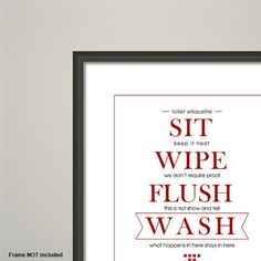 Bathroom Etiquette flush the toilet quotes and sayings free printable | decor