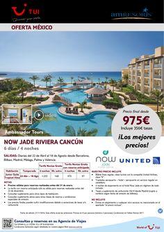 Novios. Now Jade Riviera Cancun-Lujo. 4 noches. De Abril a Agosto con UA. Precio final desde 975E en TI