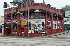 Whisky A Go Go on the Sunset Strip, West Hollywood (The Byrds, Alice Cooper, Buffalo Springfield & Love were regulars, and The Doors were the house band for a while.  Plus Van Morrison's band Them, Frank Zappa's Mothers, The Turtles, Neil Diamond The Kinks, The Who, Cream, Slade, Led Zeppelin, Roxy Music and Oasis . . . !!!)
