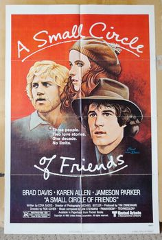 """Movie Poster  """"A Small Circle of Friends""""  Original 1980 Movie Poster - by MoviePostersAndMore on Etsy"""