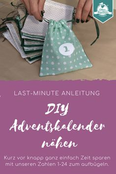 Would you like to sew your own advent calendar, but you don't really know how? Alex shows you in her step-by-step instructions. You have your Advent calendar ready in just … Homemade Advent Calendars, Diy Advent Calendar, Christmas Countdown, Christmas Fun, Techniques Couture, Textiles, Modern Kids, Iron On Transfer, Sewing Projects