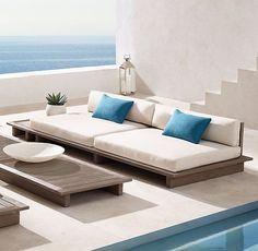 Why Teak Outdoor Garden Furniture? Outdoor Sofa, Best Outdoor Furniture, Ikea Furniture, Pallet Furniture, Kitchen Furniture, Rustic Furniture, Living Room Furniture, Furniture Design, Outdoor Decor