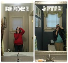 Diy bathroom remodel before and after home remodeling ideas Diy bathroom remodel before and after