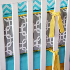 Caden Lane Crib Bedding Set Bright Baby Gray @Layla Grayce