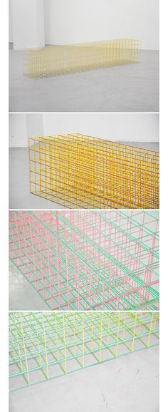 Ryuji Nakamura, 'Colorful' exhibition 2010. Architects' colors and forms at Turner Gallery. Color and corrugated paper.