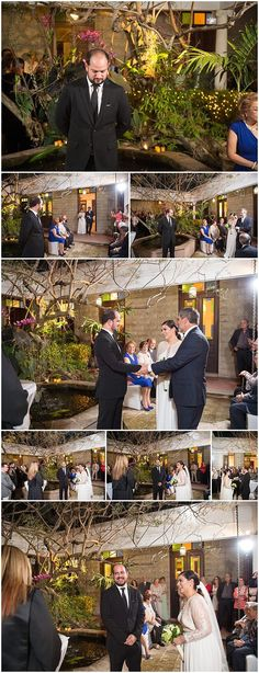 Minimalista y Moderna boda 'Al Fresco' en Colegio de Arquitectos