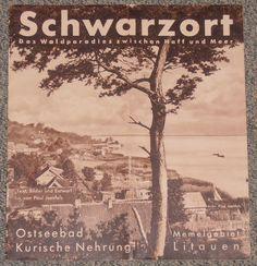Reiseprospekt Schwarzort Kurische Nehrung Memelland Ostpreussen ca. 1933