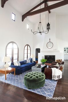 La Habra Heights - New and vintage furnishings make this Spanish Revival feel like home @Homepolish LA | designed by Orlando Soria