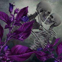 Skeleton Love, Skeleton Art, Dark Fantasy Art, Dark Art, Art Of Dan, Day Of The Dead Art, Skulls And Roses, Halloween Pictures, Grim Reaper