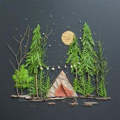 Love this landscape diorama idea for kids kids crafts art for kids outdoor art 17 super fun kids garden projects to pursue in spring Projects For Kids, Diy For Kids, Kids Crafts, Arts And Crafts, Kids Nature Crafts, Camping Activities For Kids, Christmas Art Projects, Leaf Crafts, Kids Fun