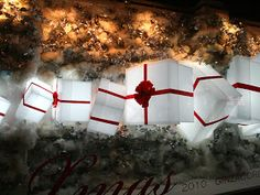 Winter Window Display, Shop Window Displays, Retail Windows, Store Windows, Light Decorations, Christmas Decorations, Led Lantern, Plexus Products, Xmas