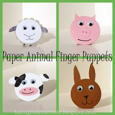 Paper Finger Animal Puppets