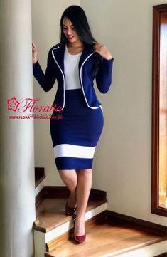 Floratta Modas - Moda Evangélica - A Loja da Mulher Virtuosa Mode Outfits, Skirt Outfits, Chic Outfits, Fashion Outfits, Classy Work Outfits, Classy Dress, Corporate Attire, Latest African Fashion Dresses, Professional Outfits