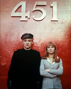 Clarisse: But why do you burn books? Guy Montag: Books make people unhappy, they make them anti-social. Clarisse: Do you think I'm anti-social? Fahrenheit 451 François Truffaut Oskar Werner and Julie Christie. Julie Christie, Fahrenheit 451, Best Sci Fi Movie, Sci Fi Movies, Paul Newman, Film Science Fiction, Fiction Film, Jacques Demy, Nostalgia