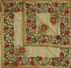Antika işleme Palestinian Embroidery, Vintage Textiles, Embroidery Designs, Projects To Try, Traditional, Antiques, Prints, Instagram Posts, Pattern