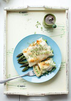 Cannelloni ze szparagami zapiekane z sosem beszamelowym i serem