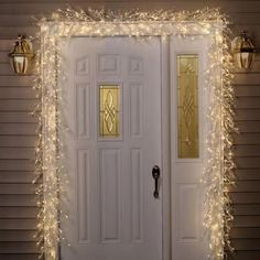 GE 9 ft. Pre-Lit White Winter Berry Garland with Clear Lights-21232HD at The Home Depot