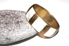 Vintage Womens Brass Bangle / Mother Of by AntiqueAlchemyShop, $10.94