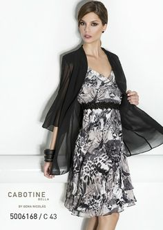 A really special black and white wedding guest dress by Cabotine.