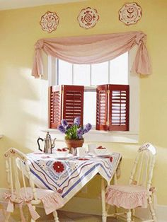 Charming Ideas for Spring Decorating, Light Window Curtains