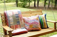 Hang a summery porch