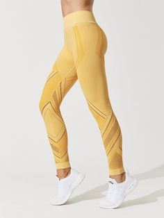 57888c82f0782e Quintissential Leggings in Marigold by Nux from Carbon38 Sporty Girls,  Sporty Outfits, Athletic Outfits