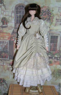 Купить Интерьерная кукла Наталья - бежевый, кукла, кукла ручной работы, тряпиенс, ручная работа ☆