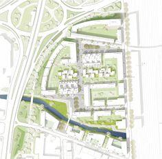 Lageplan Landscape Plane, Masterplan, Planer Layout, Site Plans, Urban Planning, Urban Design, Floor Plans, How To Plan, Building