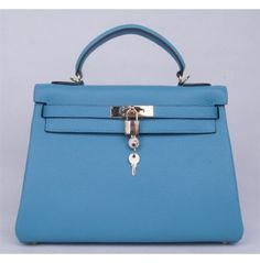 2d2acee1c8b1 Hermes Kelly 32 35 blue togo Leather gold buckle