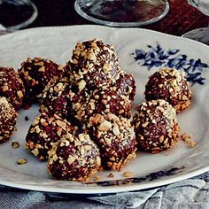 We used our Cooking Light recipe for Maple-Bourbon Pecan Pie to make these truffles, and the nutritional information is based on that pie.