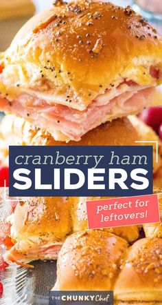 Looking for a great way to use up that leftover holiday ham? Try making these crowd pleasing Cranberry Ham Sliders!  Perfect with deli ham too, these quick and easy little Hawaiian roll sandwiches are a true family favorite! #ham #sliders #cranberry #leftovers #holiday #thanksgiving #christmas #hawaiianrolls Hawaiian Roll Sandwiches, Rolled Sandwiches, Hawaiian Rolls, Pork Recipes, Chicken Recipes, Low Cal Dinner, Ham Sliders, Low Calorie Dinners, Deli Ham