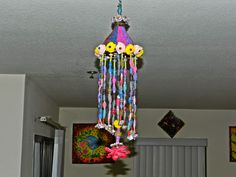 Creative DIY crafts: Hanging craft made with coke bottle and recycled b...