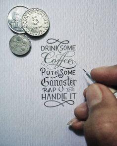 Illustrations typographiques de l'artiste indonésien Dexa Muamar - Journal du Design