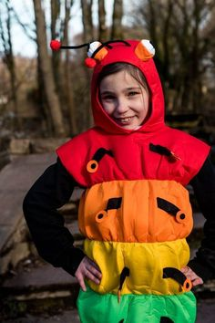 The Very Hungry Caterpillar Costume for World Book Day or Fancy Dress    Plus more World Book Day Costumes and Fancy Dress Ideas for Kids.#TheVeryHungryCaterpillar #worldbookday #Readwithkids #Literacy #dressup #costumes #bookcostumes  #Caterpillar #kidsdressups #Worldbookdayideas #fancydress