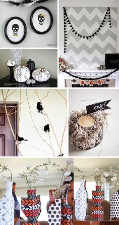 DIY black and white Halloween roundup