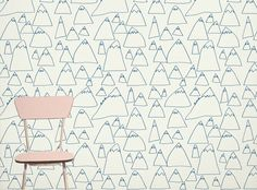 Swedish design firm Fine Little Day has created a line of wallpaper based on drawings by their son, Otto. Kids Wallpaper, Pattern Wallpaper, Playroom Wallpaper, Heart Wallpaper, Wallpaper Ideas, Pretty Things, Lovely Things, Mountain Wallpaper, Kid Spaces