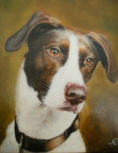 "Saatchi Online Artist Sasa Milojkovic; Painting, ""the dog"" #art"