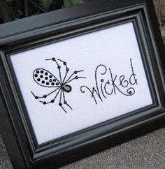 "FREE! ""Wicked"" - Stitchery Pattern - Seen on Studio 5"